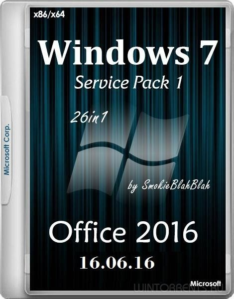 Windows 7 SP1 (x86-x64) +/- Office 2016 26in1 by SmokieBlahBlah 16.06.16 (2016) [Rus] - «Windows»