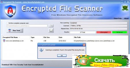 Encrypted File Scanner